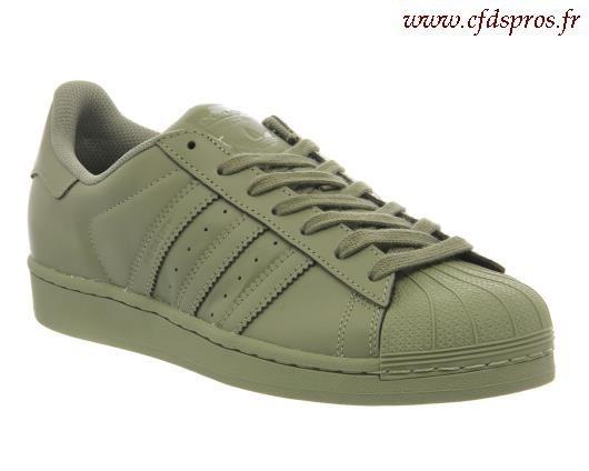 adidas superstar vert kaki